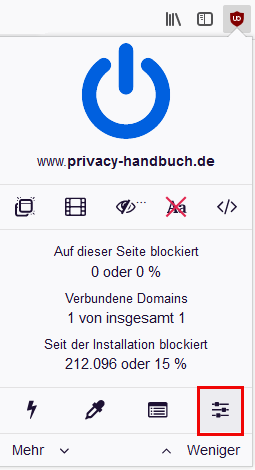 AdBlocker uBlock Origin für Mozilla Firefox